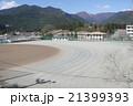 桜咲く校庭のグラウンド 入学、卒業シーズンに 21399393