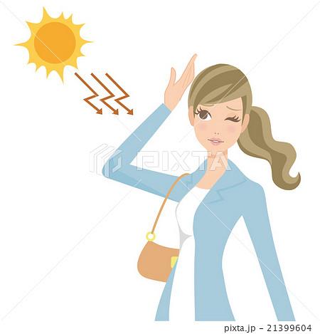 紫外線を浴びる女性 21399604