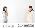 女性二人(表情 謝る) 21400330