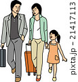女の子 親子 家族のイラスト 21417113