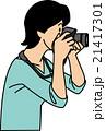 ベクター 女性 カメラのイラスト 21417301