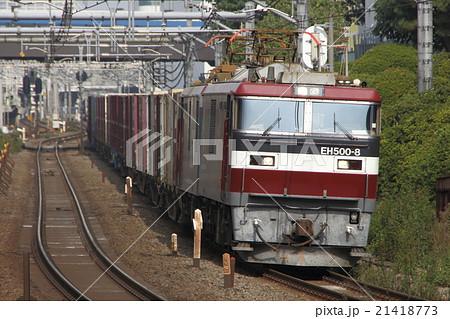 山手貨物線を行くEH500形牽引の貨物列車(3086レ) 21418773