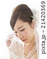 嬉し泣きをする花嫁 21420369