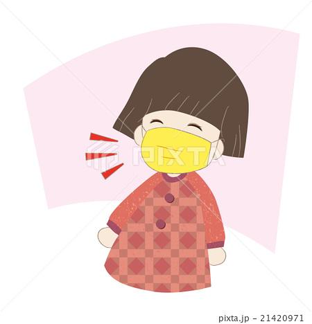 女の子 風邪予防 21420971