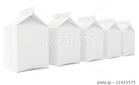 milk boxes. 3d render on white backgroundのイラスト素材 [21423575] - PIXTA