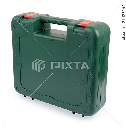 Closed tool box standing on a white backgroundの写真素材 [21423592] - PIXTA