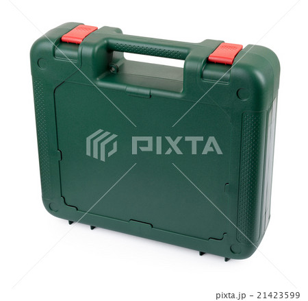 Closed tool box standing on a white backgroundの写真素材 [21423599] - PIXTA
