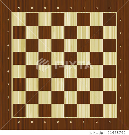 Wooden vector chess boardのイラスト素材 [21423742] - PIXTA