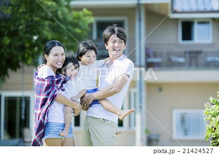 ハワイで暮らす親子 21424527
