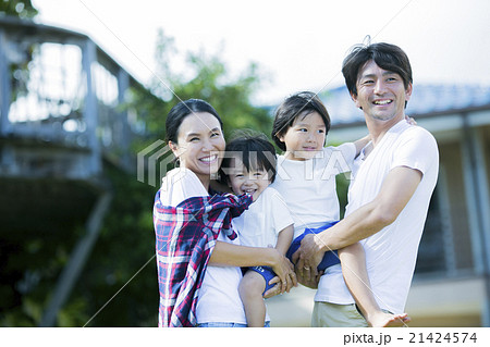 ハワイで暮らす親子 21424574