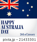 Greeting card Happy Australia Day. 21433301