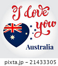 I love you Australia Hand lettering Greeting Card. 21433305