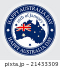 Greeting card, rubber stamp Happy Australia Day. 21433309
