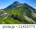 北アルプス・抜戸岳稜線から望む笠ヶ岳山頂 21433773