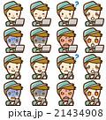 作業員 PC スマホ セット 21434908