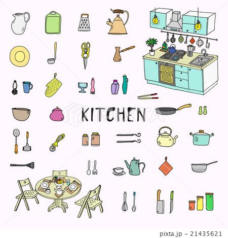 Kitchenware. Doodle set. Isolated 21435621