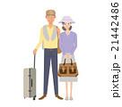 高齢者 シニア 旅行のイラスト 21442486