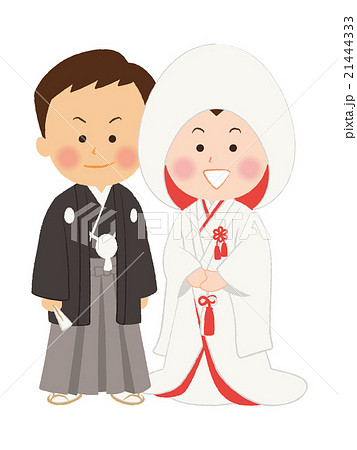 結婚式 和装のイラスト素材