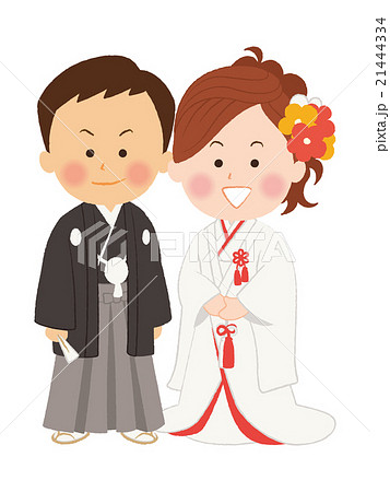 結婚式_和装のイラスト素材 [21444334] , PIXTA