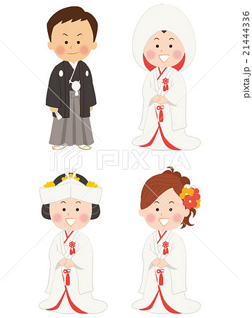 結婚式_和装のイラスト素材 [21444336] , PIXTA