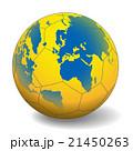 世界地図が投射されたハンドボール ベクターイラスト 21450263