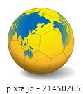 世界地図が投射されたハンドボール ベクターイラスト 21450265