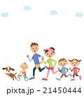ランニング 家族 走るのイラスト 21450444