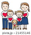 ベクター 4人家族 人物のイラスト 21455146
