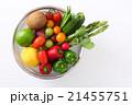 野菜 食材 ザルの写真 21455751