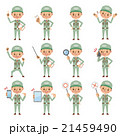 作業服姿の男性ポーズセット(12種) 21459490