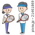老夫婦 スポーツ シニアのイラスト 21461869