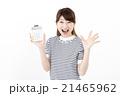 女性 電卓 計算機の写真 21465962