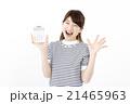 女性 電卓 計算機の写真 21465963