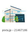台風で揺れる家 21467186