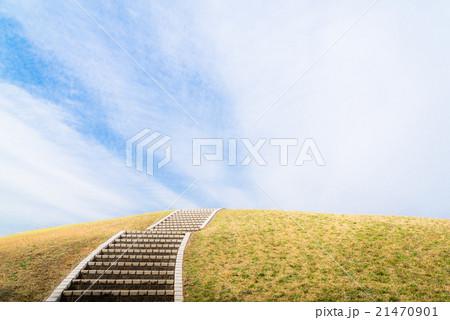 丘の上に続く石段 21470901