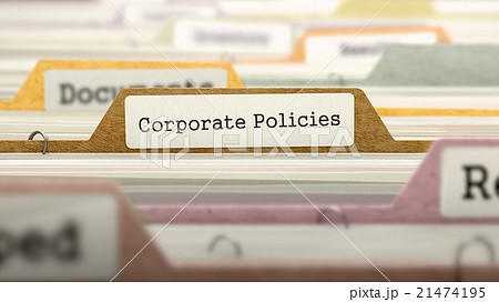 Corporate Policies Concept. Folders in Catalog. 21474195
