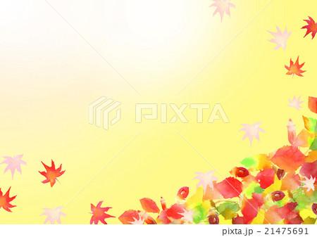 イラスト 秋 紅葉 背景 21475691
