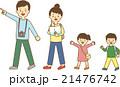 家族旅行 家族 旅行のイラスト 21476742