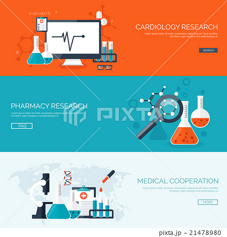 Vector illustration. Flat medical backgroundのイラスト素材 [21478980] - PIXTA