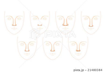 鼻の形 21480384