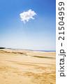 青空に雲一つの鳥取砂丘 21504959