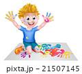 Cartoon Boy Painting 21507145