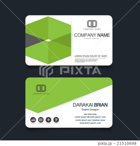 name card modern simple business card templateのイラスト素材