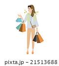 女性 買い物 ショッピングのイラスト 21513688