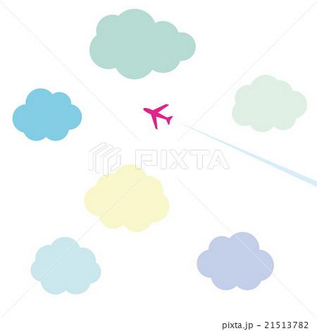 飛行機 雲のイラスト素材 21513782 Pixta