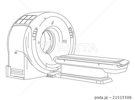 CTスキャナ 線画イラスト 21515506