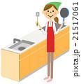 家事 主婦 キッチンのイラスト 21517061