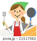 家事 主婦 女性のイラスト 21517062