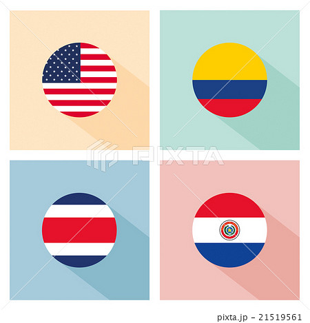 soccer ball with group A teams flags.のイラスト素材 [21519561] - PIXTA