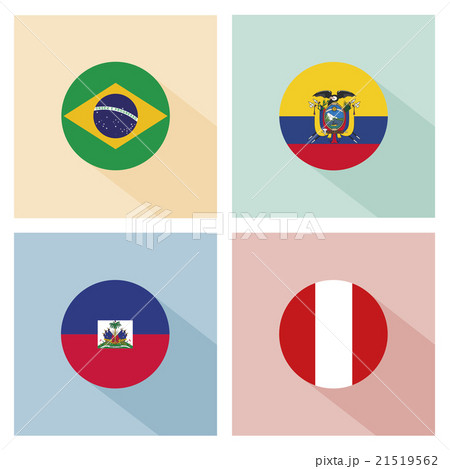 soccer ball with group B teams flags.のイラスト素材 [21519562] - PIXTA